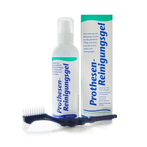 KK Prothesen-Reinigungsgel 150 ml Dosierflasche inkl. Reinigungsbürste