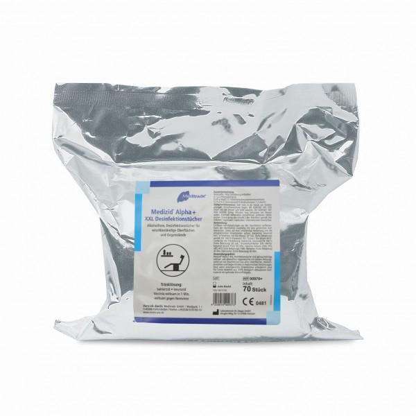 Meditrade Medizid® Alpha+ XXL Wipes | Nachfüllpackung | 70 Stück/Packung