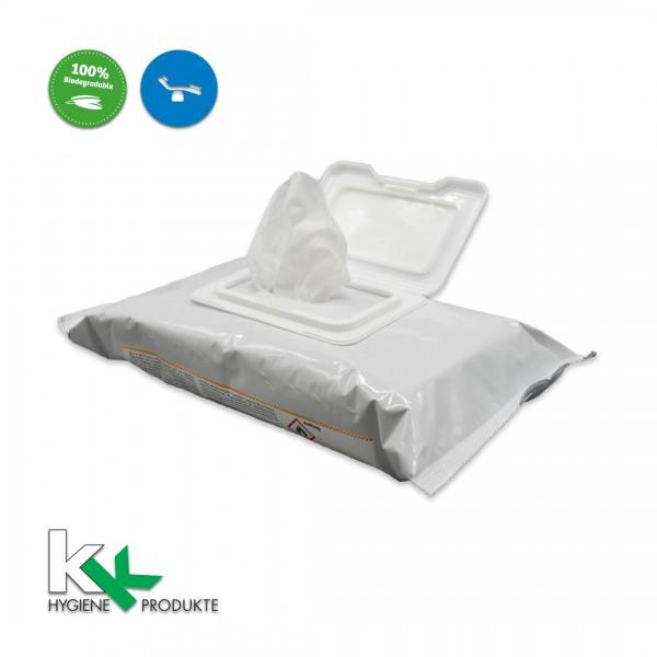 KK Flächen - Desinfektionstücher | QF- Bio-Wipes | Hygienetücher | 80 Stück/Packung