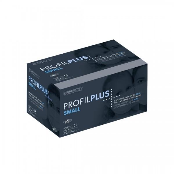 Medizinischer Mundschutz Profil Plus SMALL | 3-lagig | Blau | 50 Stück