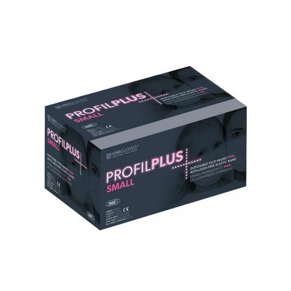 Medizinischer Mundschutz Profil Plus SMALL | 3-lagig | Pink | 50 Stück