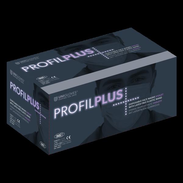 Medizinischer Mundschutz Profil Plus | 3-lagig | Violett | 50 Stück