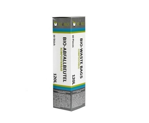 Bio Abfallbeutel 120 Liter 935 x 1150 mm 18 µ 10 Stück/Faltschachtel
