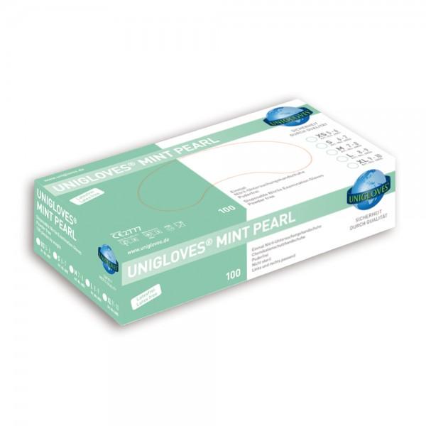 Unigloves Nitrilhandschuhe MINT PEARL | XS-XL | 100 Stück/Box