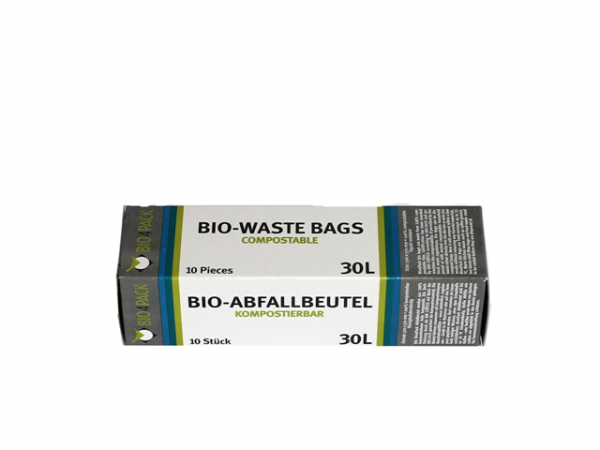 Bio Abfallbeutel 30 Liter 500 x 570 mm 15 µ 10 Stück/Faltschachtel