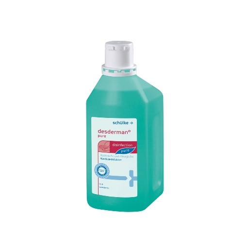 Schülke desderman® pure | Alkoholische Händedesinfektion | 1 Liter Flasche