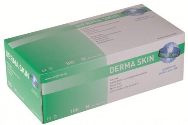 Unigloves Latexhandschuhe DERMA SKIN | XS-XL | 100 Stück/Box