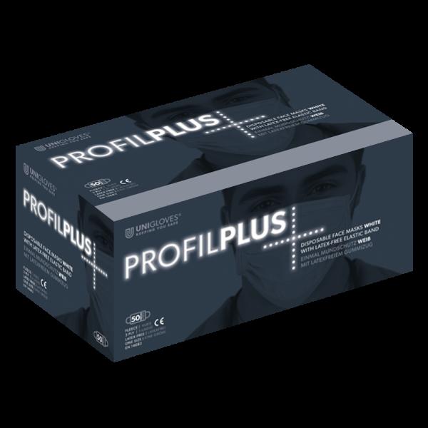 Medizinischer Mundschutz Profil Plus | 3-lagig | Weiss | 50 Stück