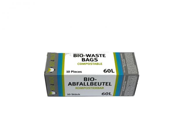 Bio Abfallbeutel 60 Liter 600 x 800 mm 30 µ 10 Stück/Faltschachtel