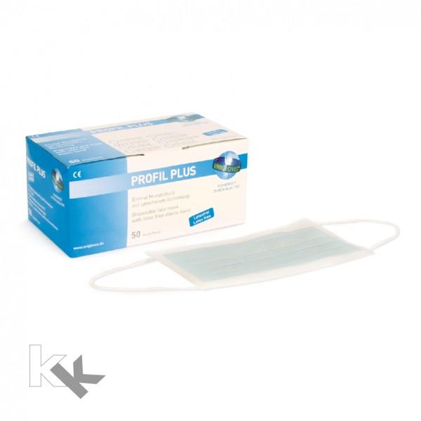 Unigloves Einweg Mundschutz Profil Plus | 3-lagig | Blau | 50 Stück
