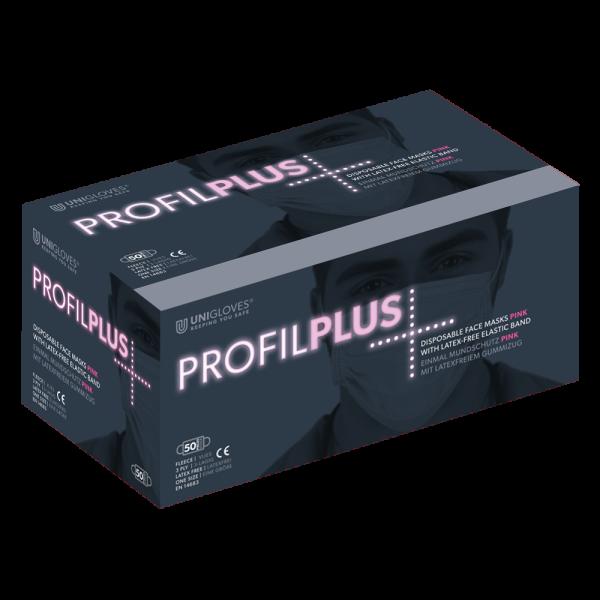 Medizinischer Mundschutz Profil Plus | 3-lagig | Pink | 50 Stück