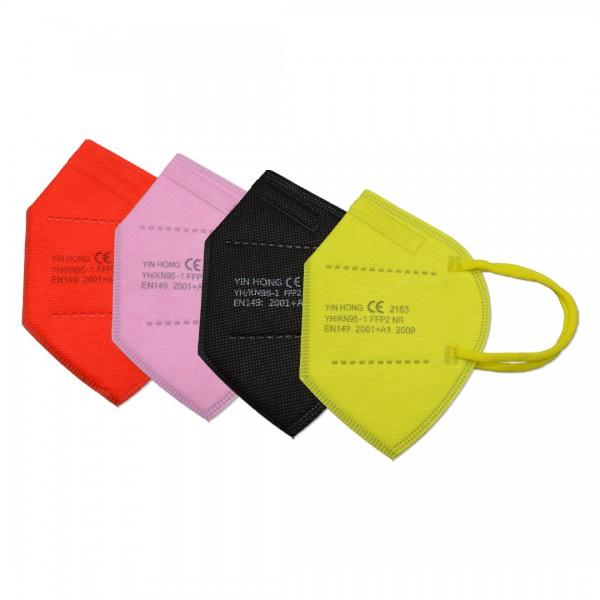 Feinstaubmasken FFP2 | Bunt | CE-zertifiziert | 5 Stück | ohne Ventil