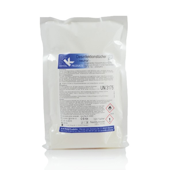 KK Desinfektionstücher Nachfüllpack mit 120 Tüchern
