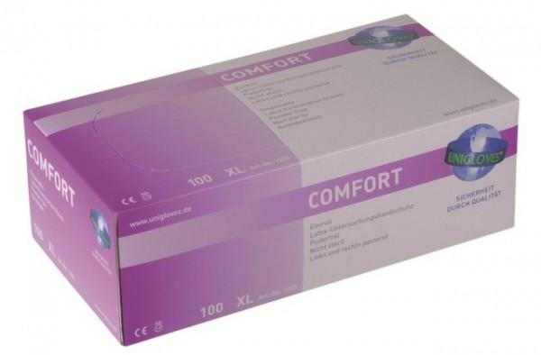 Unigloves Latexhandschuhe COMFORT | XS-XL | 100 Stück/Box