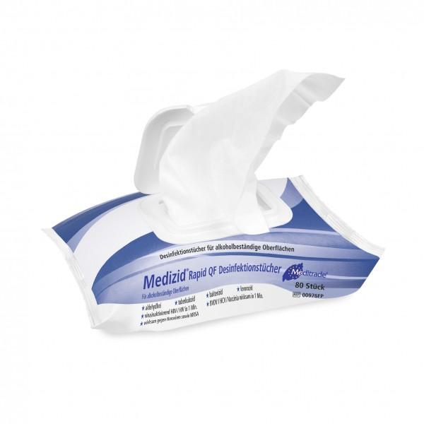 Meditrade Medizid® Rapid QF | Desinfektionstücher | 80 Tücher im Flowpack