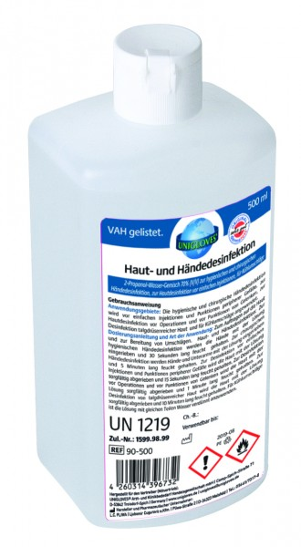 Unigloves | Haut- u. Händedesinfektion | 500 ml
