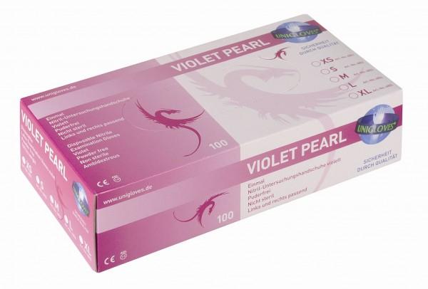 Unigloves Nitrilhandschuhe VIOLET PEARL | XS-XL | 100 Stück/Box