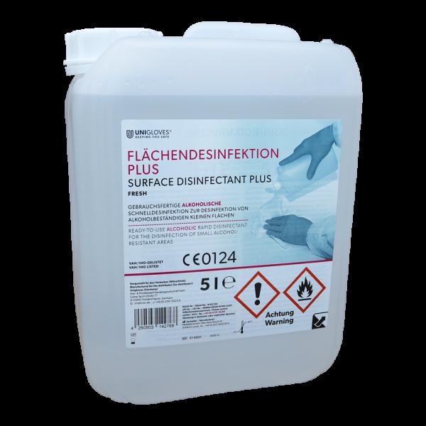 Unigloves Flächendesinfektion Plus | Fresh | 5 Liter Kanister